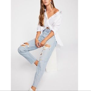 NWT Levi's Wedgie fit distressed jeans